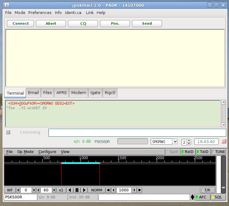 jPskMail - Mail via voie radio Screenshot-1